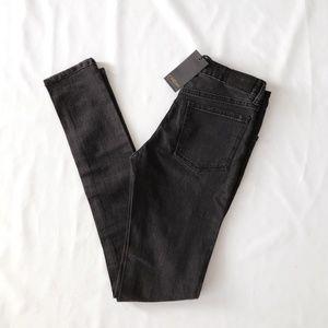 NWOT Courtshop Black High Waist Skinny Jeans, 26